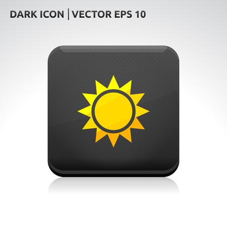 Sun icon | color dark black gold yellow  Vector