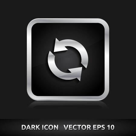 Update reload icon | color dark black silver metal grey white