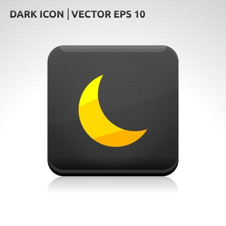 gold  yellow: Moon icon   color dark black gold yellow