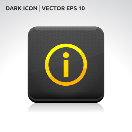 Information info icon | color dark black gold yellow Vector