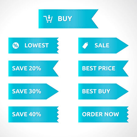 best price: Ribbon sale color blue template