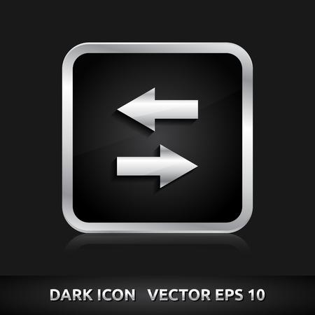 arow: Data icon | color dark black silver metal grey white