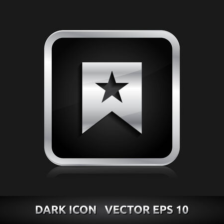 Favorite icon | color dark black silver metal grey white Illustration