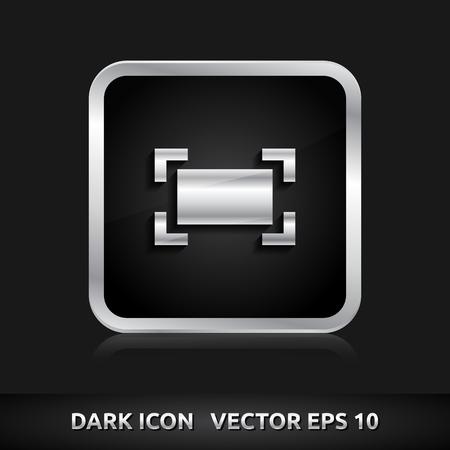 maximize: Zoom maximize icon   color dark black silver metal grey white