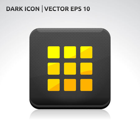 gold  yellow: Enter home default icon   color dark black gold yellow