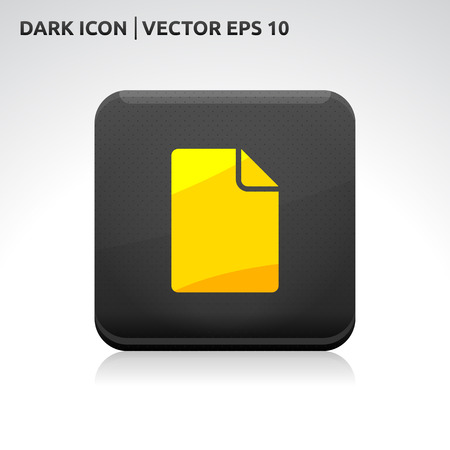 File icon | color dark black gold yellow  Vector