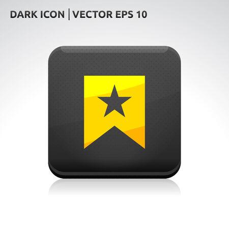 addendum: Favorite icon | color dark black gold yellow Illustration