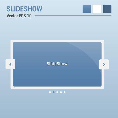Slideshow - website elements - web design UI Vector