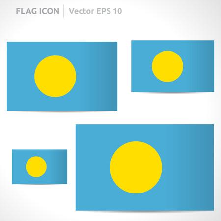 flag template: Palau flag template symbol design