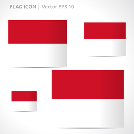 flag template: Monaco flag template symbol design