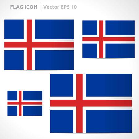 flag template: Iceland flag template symbol design Illustration