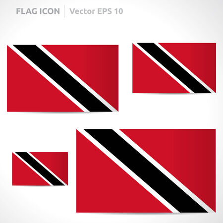 trinidadian: Trinidad and Tobago flag template symbol design  Illustration