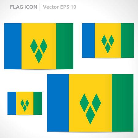 flag template: Saint Vincent and the Grenadines flag template  Illustration