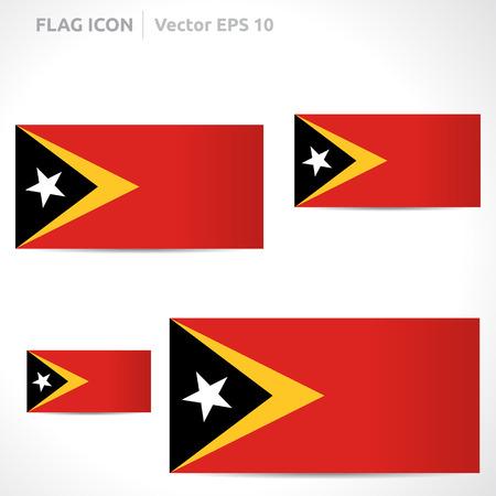 flag template: Timor-Leste flag template symbol design Illustration