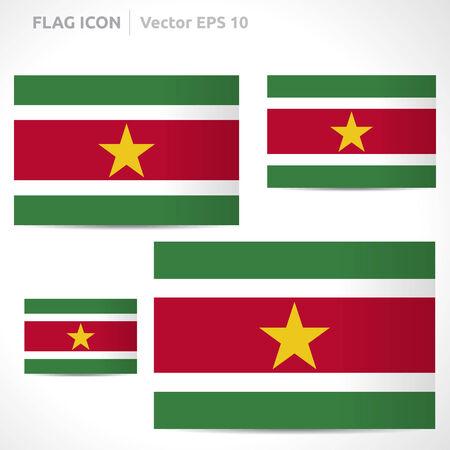 flag template: Suriname flag template symbol design