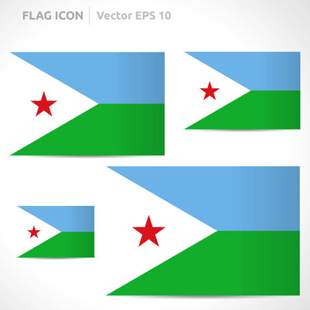 djibouti: Djibouti flag template symbol design
