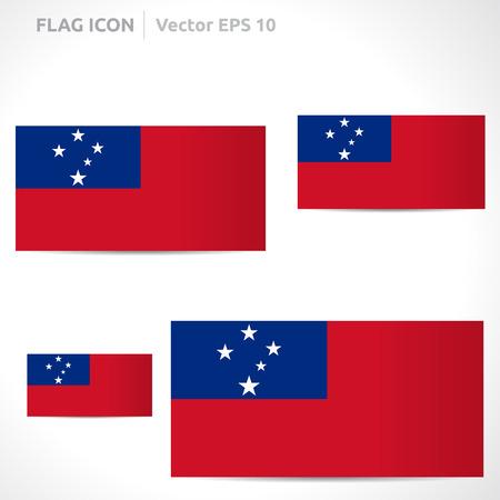 flag template: Samoa flag template symbol design  Illustration