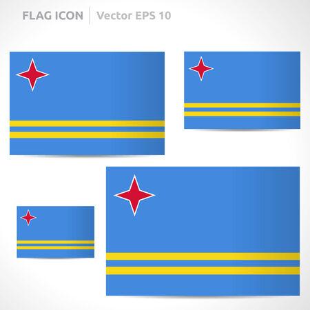 flag template: Aruba flag template symbol design Illustration