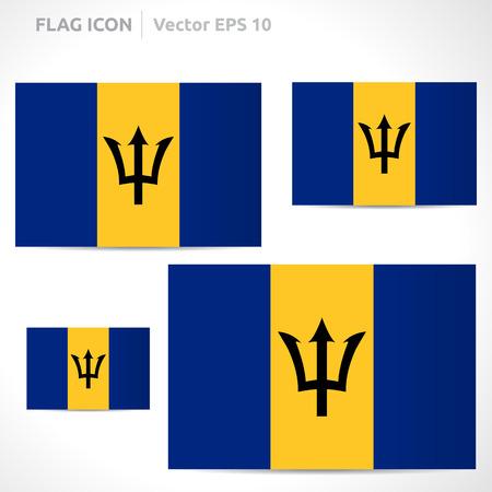 flag template: Barbados flag template symbol design  Illustration