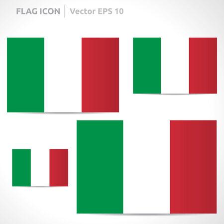 flag template: Italy flag template symbol design Illustration