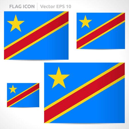 flag template: Democratic Republic of the Congo flag template
