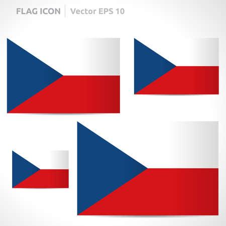 flag template: Czech Republic flag template symbol design