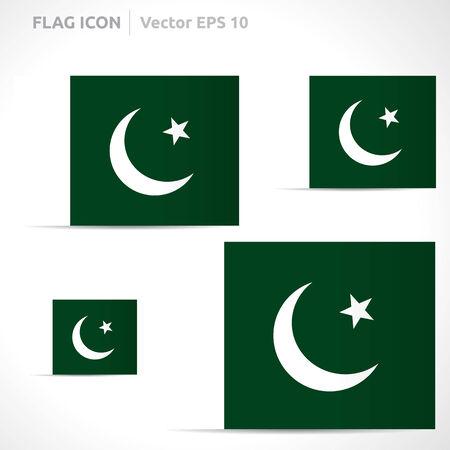 flag template: Pakistan flag template symbol design