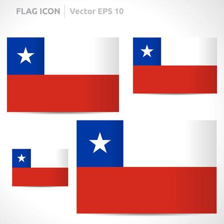 flag template: Chile flag template symbol design