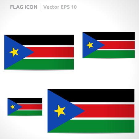 flag template: South Sudan flag template symbol design Illustration