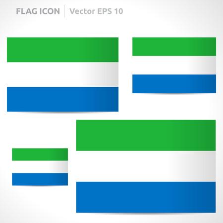 sierra: Sierra Leone flag template symbol design
