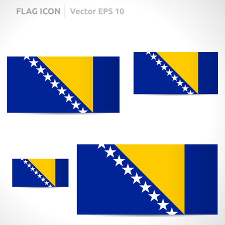 bosnian: Bosnia and Herzegovina flag template symbol design  Illustration