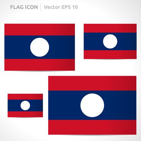 flag template: Laos flag template symbol design