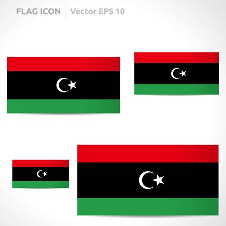 Libya flag template symbol design Vector