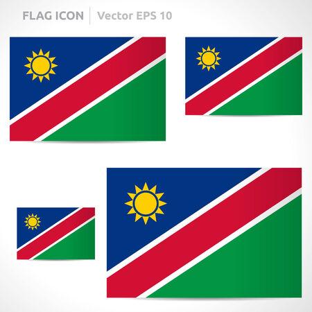 Namibia flag template symbol design  Vector