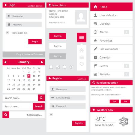 diaporama: Mod�le de site Web (�l�ments) avec diaporama, menu vertical, bo�te de connexion, registre