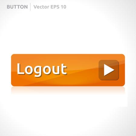 Logout button template design