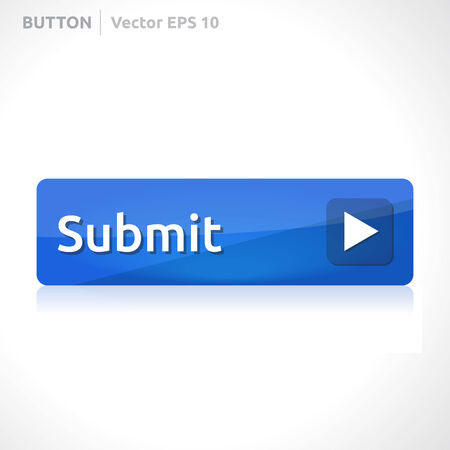 Submit knop template Stock Illustratie