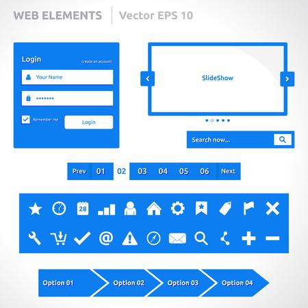web site: Web site elements template  Illustration