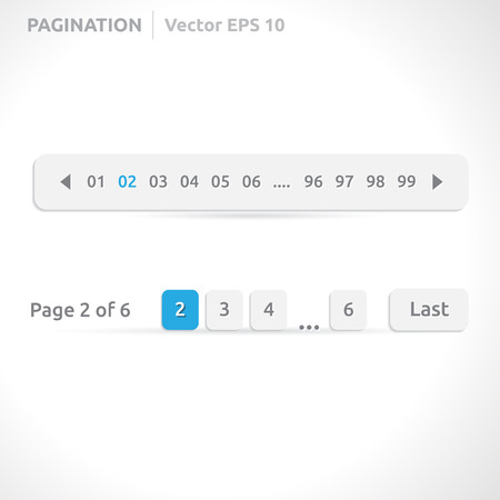Pagination bars | color blue and white  Vector