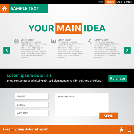slideshow: Website template with typography, slideshow, options and form