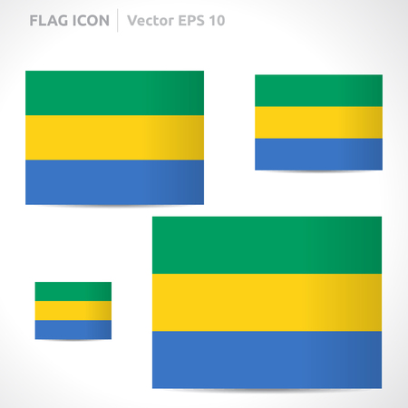 gabon: Gabon flag template symbol design  Illustration