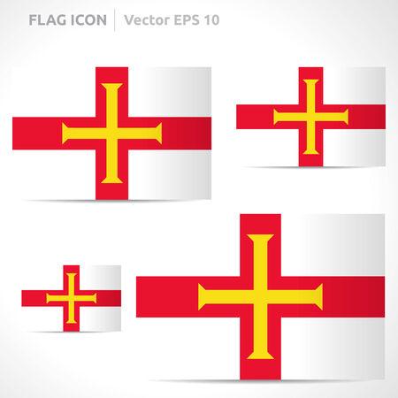 Guernsey flag template symbol design Vector