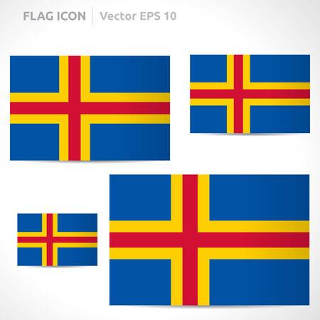 flag template: Aland Islands flag template symbol design