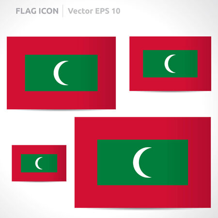 flag template: Maldives flag template symbol design
