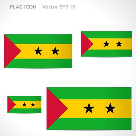 principe: Santo Tom� y Pr�ncipe plantilla bandera Vectores