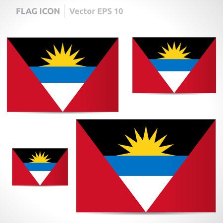 flag template: Antigua and Barbuda flag template  Illustration