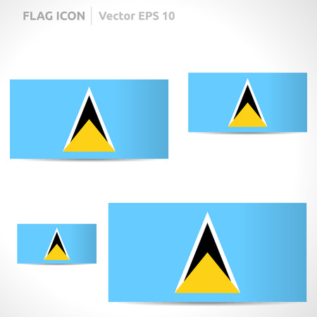 flag template: Saint Lucia flag template Illustration