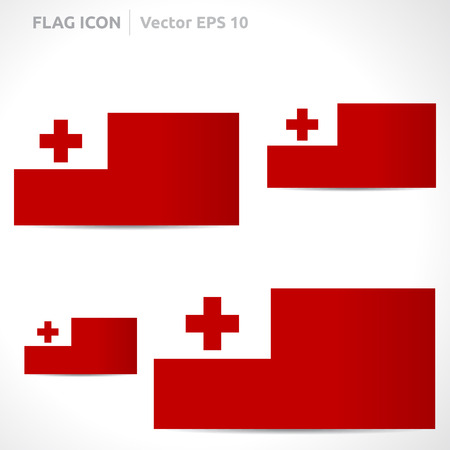 tonga: Tonga flag template  Illustration