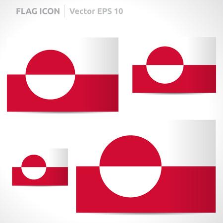 flag template: Greenland flag template  Illustration