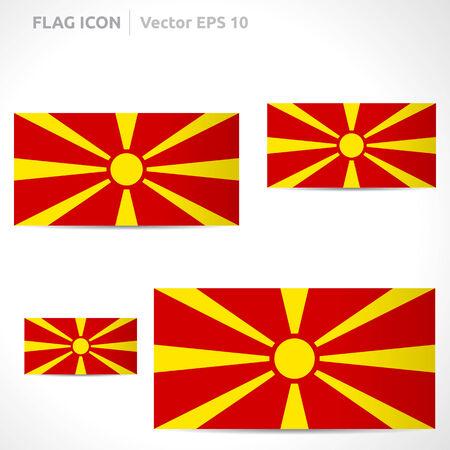 flag template: Macedonia flag template  Illustration